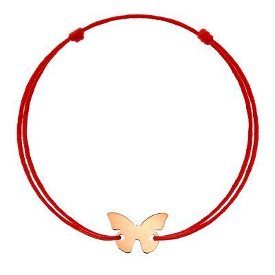 Bratara Fluture din Aur aur roz copil negru