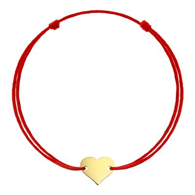 Bratara Inima din Aur aur galben copil rosu