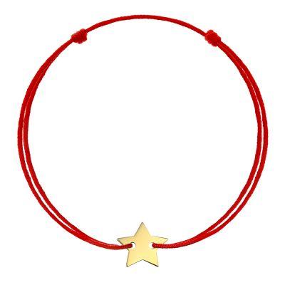 Bratara Stea din Aur aur galben femeie rosu