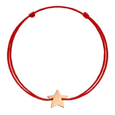 Bratara Stea din Aur aur roz femeie negru