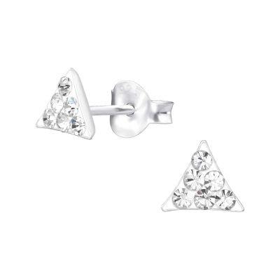 Cercei Triunghiuri cu Cristale din Argint 925