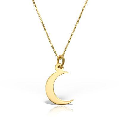 Colier Crescent Moon din Aur  galben