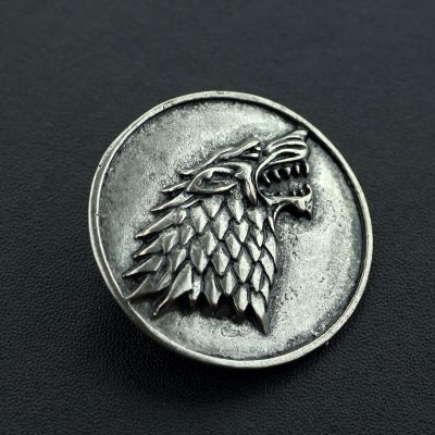 Brosa blazon argintiu Game of Thrones Ghost