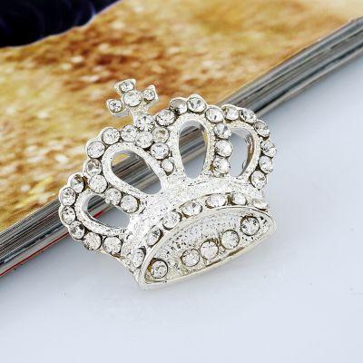 Brosa coroana Silver Crown
