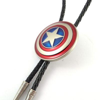 Cravata americana Bolo blazon Captain America