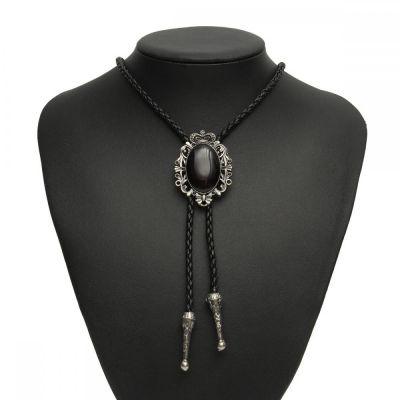 Cravata americana Bolo opal negru Black Opal