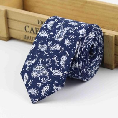 Cravata slim albastra paisley French Revolution