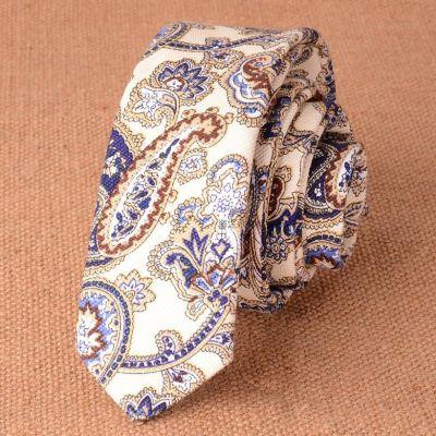 Cravata slim multicolora paisley Navy