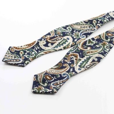 Papion self-tie paisley multicolor Brown Chic