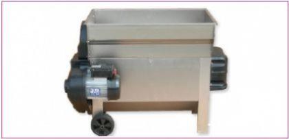 Dezciorchinător cu zdrobitor, complet inox, cuvă rabatabilă 870 X 500 mm, motor 2CP/220V, pompă centrifugă inox, capacitate maximă 2.000 kg/oră