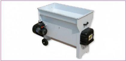 Dezciorchinător cu zdrobitor, cuvă rabatabilă vopsea emailată (1.040 X 550 mm), motor 2.5 CP/220V, pompă centrifugă inox, capacitate maximă 3.000 kg/oră