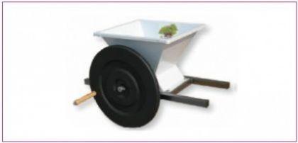 Mini zdrobitor struguri - manual ,cuvă vopsea email 400 X 400 mm