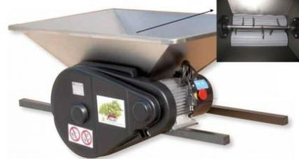 Zdrobitor fructe mare, cuvă inox 950 X 600 mm - motor 220 V, 1 CP