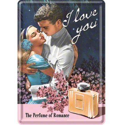 Carte postala metalica The perfume of romance