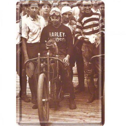 Carte postala metalica Harley-Davidson