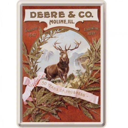 Carte postala metalica John Deere & Co