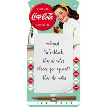 Bloc notes magnetic Coca-Cola Diner Lady