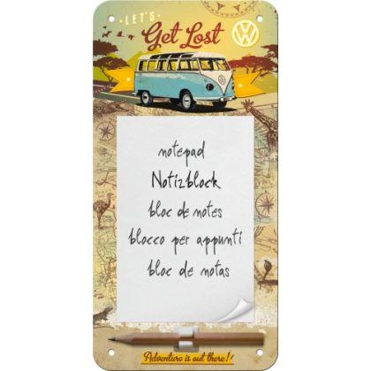 Bloc notes magnetic VW - Let's Get Lost