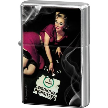 Bricheta metalica Pin Up Smoking