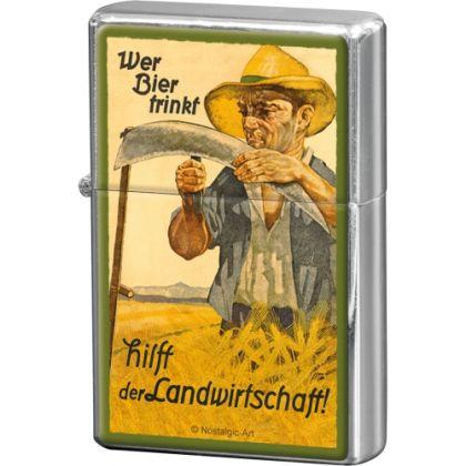 Bricheta metalica Wer Bier Trinkt