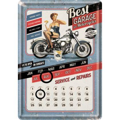 Calendar metalic de birou Best Garage Blue(10/14cm)