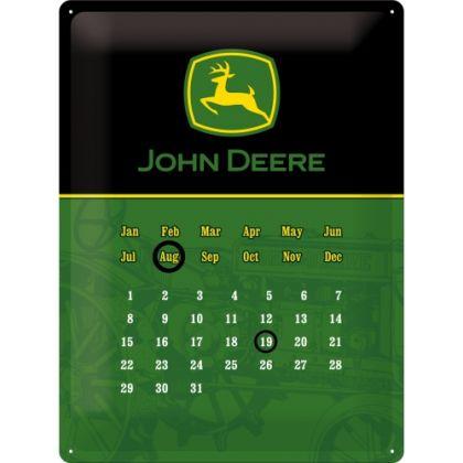 Calendar metalic de perete MARE John Deere (30/40cm)