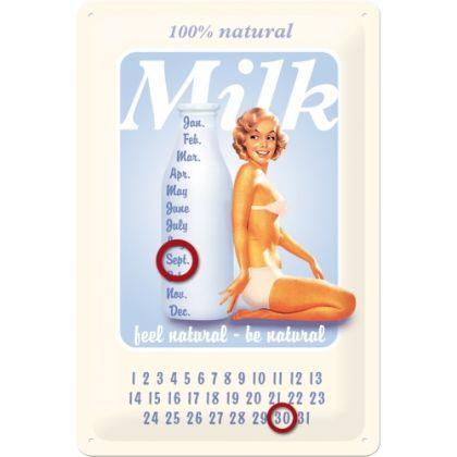 Calendar metalic de perete Pin Up Milk(20/30)