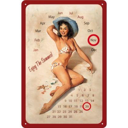 Calendar metalic de perete Pin Up Summer(20/30)