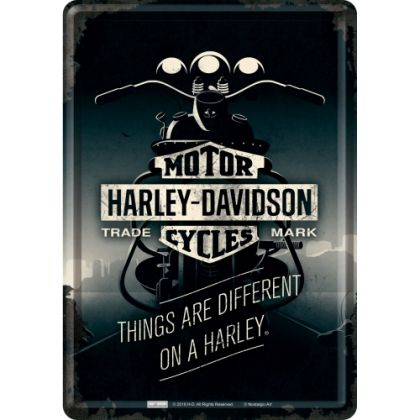 Carte postala metalica 10x14 Harley-Davidson Things are Different