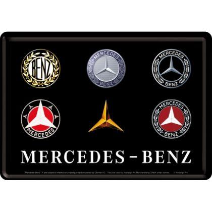 Carte postala metalica 10x14 Mercedes-Benz Logo Evolution