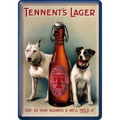Carte postala metalica 10x14 Tennent's lager