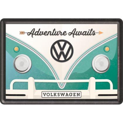 Carte postala metalica 10x14 Volkswagen Adventure Awaits