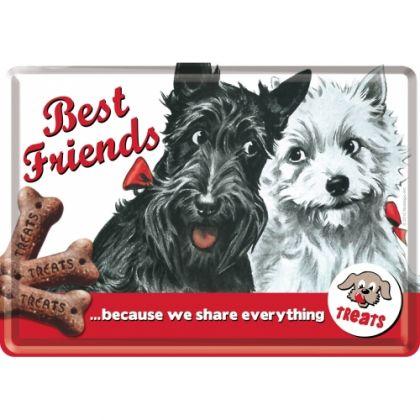 Carte postala metalica Best Friends