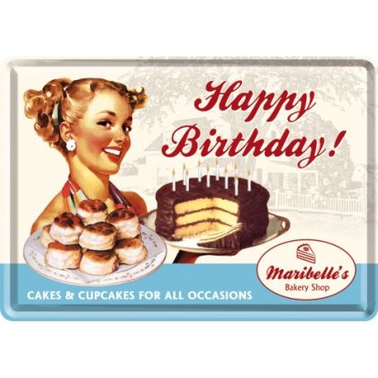 Carte postala metalica Birthday Cake