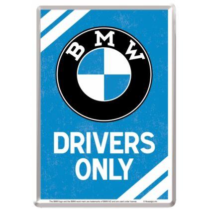 Carte Postala metalica BMW Parking Only albastru