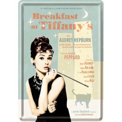 Carte postala metalica Breakfast at Tiffany's