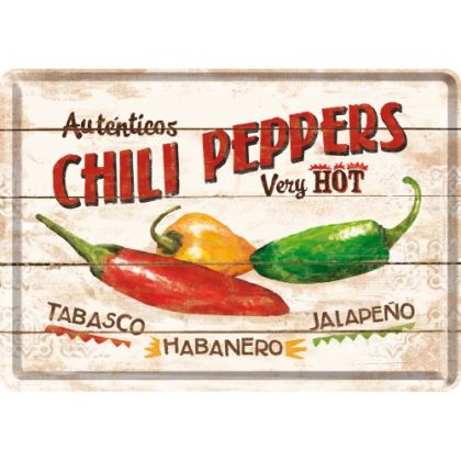 Carte postala metalica Chili Peppers