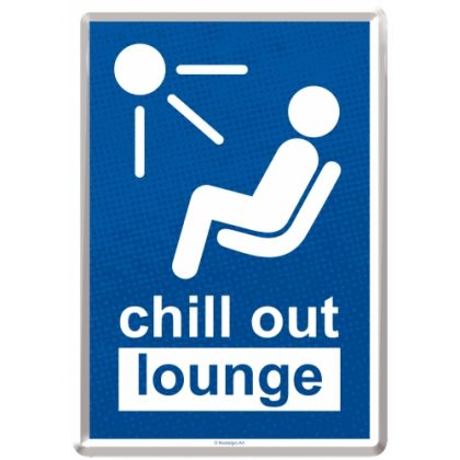 Carte postala metalica Chill Out Lounge
