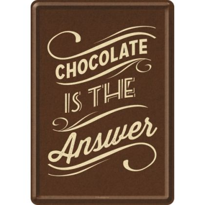Carte postala metalica Chocolate is the Answer