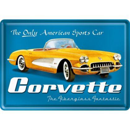 Carte postala metalica Corvette