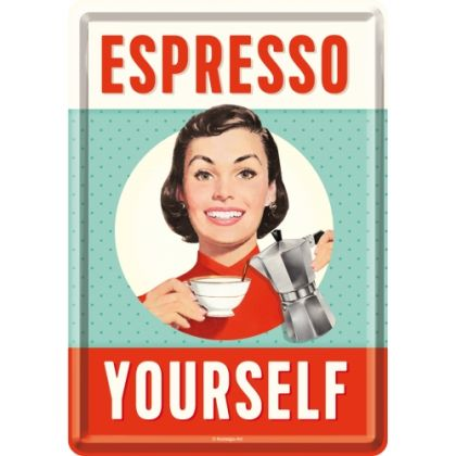 Carte postala metalica Espresso Yourself