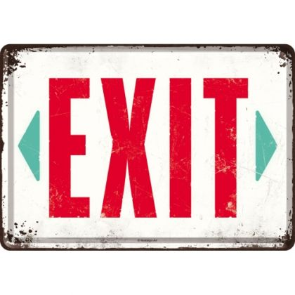 Carte postala metalica Exit - Iesire