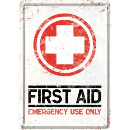 Carte postala metalica First Aid Kit-Trusa Prim Ajutor