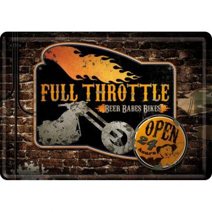 Carte postala metalica Full Throttle