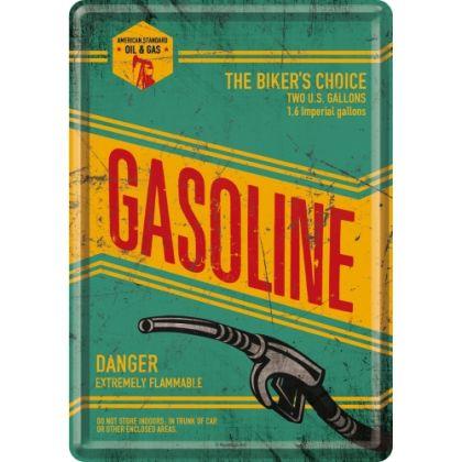 Carte postala metalica Gasoline