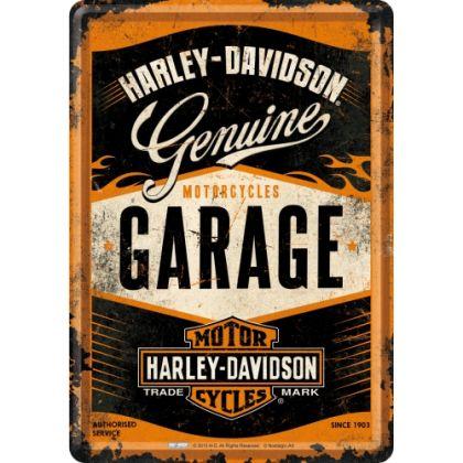 Carte postala metalica Harley-Davidson Garage