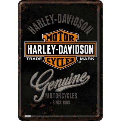 Carte postala metalica Harley-Davidson Genuine