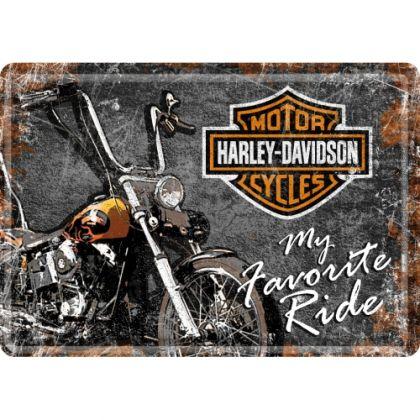 Carte postala metalica Harley-Davidson My Favorite Ride