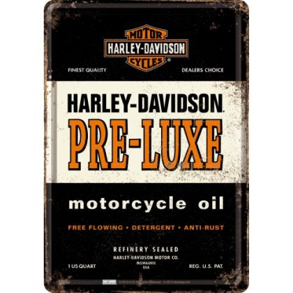 Carte postala metalica Harley-Davidson Pre-Luxe