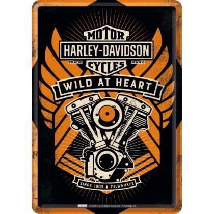Carte postala metalica Harley-Davidson Wild at Heart